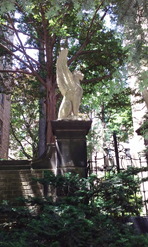 Gargoyle in Jackson Heights, Queens