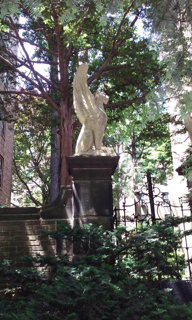 Gargoyle in Jackson Heights, Queens